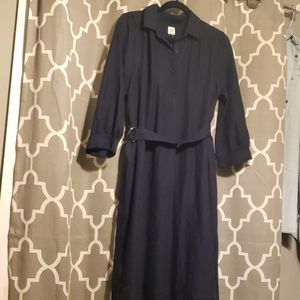 New Gap Maternity Navy Blue Dress with belt